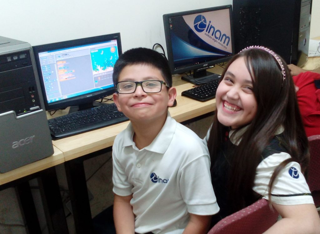 Students in Andres Riveras class at are learning to program with Scratch and are collaborating with partner students in the United States.
